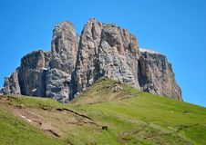 Dolomiti mountains. Mountain top in the Dolomiti mountains unesco val di fassa royalty free stock image