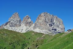 Dolomiti mountains. Mountain top in the Dolomiti mountains unesco val di fassa stock photography