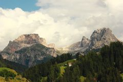 dolomiti mountains Royaltyfria Bilder