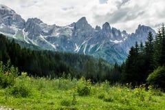 dolomiti mountains 免版税库存照片