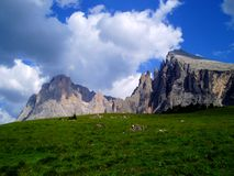 Dolomiti mountains Royalty Free Stock Photo