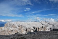 Dolomiti mountains in Italy. panorama Stock Photos