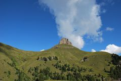 Dolomiti mountains in Italy. panorama Royalty Free Stock Photo