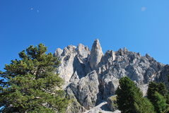 Dolomiti mountains in Italy. panorama Royalty Free Stock Images