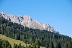 Dolomiti mountains in Italy. panorama Royalty Free Stock Photos