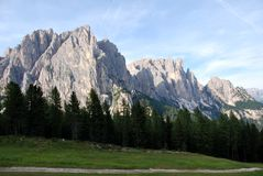 Dolomiti mountains in Italy. panorama Royalty Free Stock Photography
