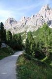 Dolomiti mountains in Italy. panorama Royalty Free Stock Image