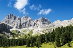 Dolomiti mountains panorama Royalty Free Stock Photo