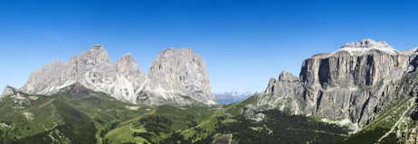 Dolomiti mountains panorama Stock Image