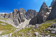 Dolomiti - obsédé et Mezdi de Piz DA Photo stock