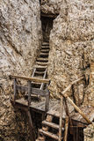 Dolomiti - old WW1 trench Royalty Free Stock Photography
