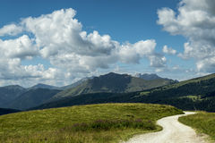 Dolomiti, panorama from Passo Rolle Royalty Free Stock Image