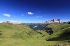 Dolomiti -从Pian de的风景 免版税库存图片