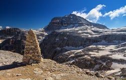 Dolomiti - Piz Boe mount Stock Image