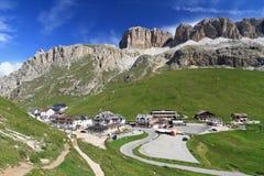 Dolomiti - Pordoi pass Stock Image