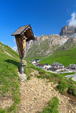 Dolomiti - Pordoi pass Stock Photography