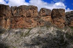 Dolomiti que camina en el corazón de las montañas imagen de archivo