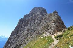Dolomiti - Roda di Vael Arkivbild
