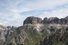 Dolomiti - Sass Pordoi. View of panorama Alps Stock Photography