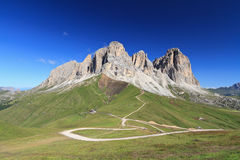 Dolomiti - Sassolungo mount Stock Images