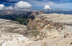 Dolomiti - sikt från Piz Boe Royaltyfri Foto