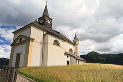 Dolomiti - small church in Laste Stock Photos