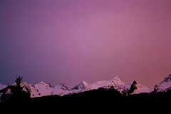 Dolomiti solnedgång Arkivbilder