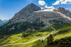 Dolomiti - summer view of mount Marmolada, Trentino, Italy Stock Image