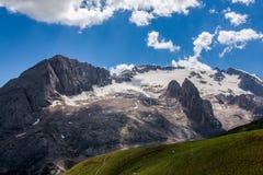 Dolomiti - summer view of mount Marmolada, Trentino, Italy Royalty Free Stock Photo