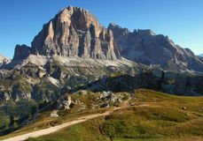 Dolomiti-Tofana di Rozes. Dolomite Mountains located in northern Italy. On the picture is a mountain Royalty Free Stock Image