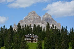 Dolomiti - Tre Cime di Lavaredo 免版税库存照片