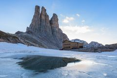 Dolomiti - The Vajolet Towers. Vajolet Towers in Dolomites. Val di Fassa, Italy Stock Image