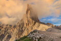 Dolomiti - the Vajolet towers. Vajolet towers in Dolomites, Val di Fassa, Italy Stock Images