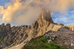Dolomiti - the Vajolet towers. Vajolet towers in Dolomites, Val di Fassa, Italy Royalty Free Stock Photo
