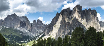 Dolomiti Vajolet Valley panorama Royalty Free Stock Photography