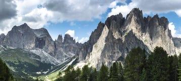 Dolomiti Vajolet Valley panorama Royalty Free Stock Photography
