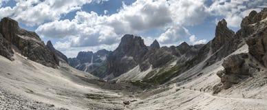 Dolomiti Vajolet Valley panorama Stock Photos
