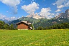 Dolomiti - Val di Fassa Stock Foto's