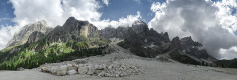 Dolomiti Val Venegia panorama Stock Photos