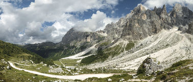 Dolomiti Val Venegia panorama Royalty Free Stock Photography