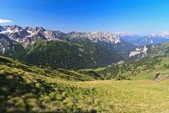 Dolomiti - valle di San Nicolo Immagine Stock