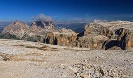 Dolomiti - view from Sass pordoi Royalty Free Stock Photo