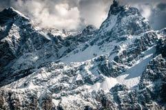 Dolomiti, vista di inverno immagini stock libere da diritti