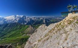 Dolomiti - vista do Sass Pordoi fotos de stock