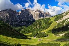 Dolomiti - wysoka Badia dolina Zdjęcie Royalty Free