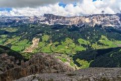 Dolomiti - wysoka Badia dolina Obrazy Royalty Free