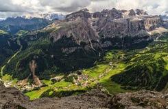 Dolomiti - wysoka Badia dolina Fotografia Stock