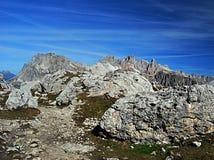 Dolomitian峰顶 图库摄影
