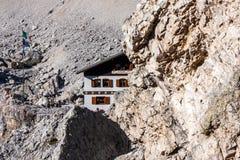 Dolomities - ομάδα Tofane Rifugio Giussani Στοκ Εικόνα