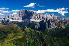 Dolomities - Civetta grupp Arkivfoto